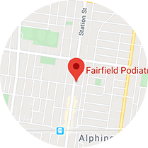 Fairfield Podiatry Map